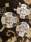 3 Fine 1790 Chinese Export Porcelain Armorial Of Williamson