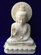 15.5 Buddha Carving Natural Soap Stone Marble Carved Handmade Collectible Decor