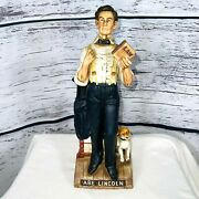 Empty Mccormick Distilling Abe Lincoln Dog Decanter American Porcelain Tax