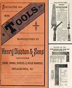 Henry Disston And Sons - Pocket Catalog Of Saws And Tools - 24 Pages
