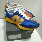 New Balance 327 Lifestyle Sneakers Shoes Ms327laa Blue Orange Mens Size 8.5