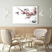 Birds On Flower Tree Watercolor Print Premium Poster High Quality Choose Sizes