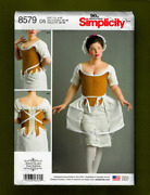 18th Century Undergarments Sewing Patterncorset Panniers 4-12 Simplicity 8579