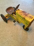 Rare Antique Pedal Tractor Amc Diesel 2 Ton Barn Find Condition Rubber Tires
