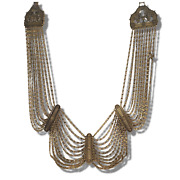 Cat Deeley Collective Gold Antique Strand Necklace Signed