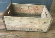 Yuengling And Son Brewery Wood Wooden Beer Crate Box Sign Pottsville Pa Free Ship