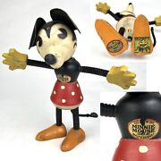 Antique 1930andrsquos Minnie Mouse Fun E Flex Nifty Disney Wood Toy Figurine Doll