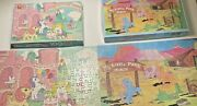 2 Vintage My Little Pony G1 Jigsaw Puzzles 1983, 1985 Mb 100 And 125 Pieces