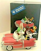 Warner Bros. Pink Car Cookie Jar Bugs Bunny Marvin The Martian Taz With Box