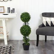 34andrdquo Boxwood Double Ball Topiary Artificial Tree Indoor/outdoor. Retail 76