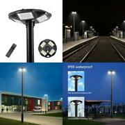 Hcoor 100w Led Solar Lamp Post Light Outdoor With 98 Inch Pole Ip65 Waterproof S