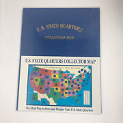 Us State Quarters Collectors Folder Map 1999-2008 Coinmap Inc Cm501 New And Sealed