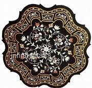 42 Inches Marble Dining Table Top Marquetry Art Coffee Table For Home Furniture