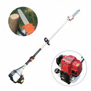 37cc 4-stroke Gas Powered Pole Saw Chainsaw Pruner Tree Trimmer Air-cooled