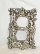 Vintage Tandhc 60d Electrical Outlet Plate Cover Ornate Metal Decor