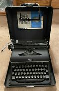 Royal Quiet Deluxe Typewriter With Magic Margin And Org. Case Immaculate