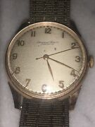 18k Pink Gold Hand-winding Watch Cal. 88 1940s W/ Military Band