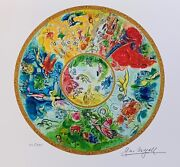 Marc Chagall Paris Opera Ceiling Limited Edition Facsimile Signed Giclee 13x17