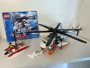 Lego City Coast Guard Helicopter 60013 Complete With Instructions And Minifigs