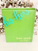 """Kate Spade New York Two Of A Kind """"mr."""" And """"mrs."""" Beer Glasses Set.. New Lenox"""