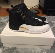2016 Nike Air Jordan Xii 12 Wings Gold Ovo Size 11 Ds 1232/12000 Playoff Taxi