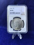 1927 Peace Silver Dollar 1 Ngc Au58 Choice About Uncirculated Blast White