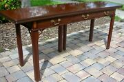 Baker Furniture Inlaid Mahogany Sideboard Buffet Server Opens Use As Table Sofa