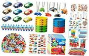 122pcs Race Cars Party Supplies Kit Lightning Mcqueen Party Favors All-in-one