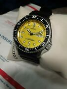 Seiko Diver Bumblebee Skxa35 200m Mint Yellow Automatic Mens Watch Discontinued