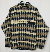 Synchilla Button Snap Pullover Small Mens Jacket Sweater Fleece
