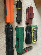 Lionel Trains Post War Set With Boxes Extras Logs/cattle Locomotive 6 Cars