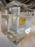 Gianni Versace 1990 Limited Ed. Baccarat Crystal Cubist Bottle No. 167 / 250