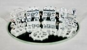 Discontinued Crystal Miniature Train 193014 With Mirror In Box