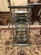 Rare Antique Table Talk Pastry Co. New England- Glass Pie Safe