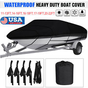 11-13 14-16 17-19 20-22 Waterproof Heavy Duty Boat Cover Fishing V-hull Runabout