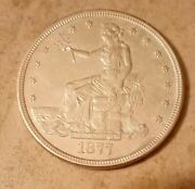 1877-s United States Silver Coin Trade Dollar One Dollar 1 San Francisco