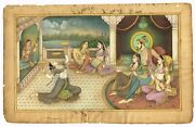 Shah Jahan With His Mistress Enjoying Music And Dance - Mughal Miniature Painting