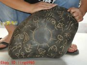 18.4chinese Hongshan Culture Meteorite Iron Carving Ancient People Sun Statue