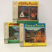 Vintage 1965 Coventry Jigsaw Puzzle Lot Rural Scenes 500 Pc Complete Landscapes