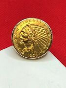 1908 5 Indian Head Gold Coin 14k Ring