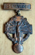 United States - Wwi For Service 1917-1919 Medal County Of Dutchess New York