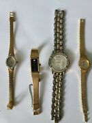 Four Vintage Ladies Watches - Deauville, Waltham, And Pulsar