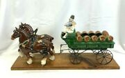 Poppytrail Metlox Ceramic Beer Wagon 2 Horse Clydesdale Hitch Vintage