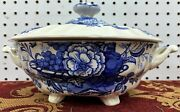 Vintage Royal Doulton The Kirkwood Blue Covered Tureen Made In England