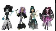 Nib Set Of 4 Monster High Ghouls Rule Dolls Clawdeen Draculaura Frankie And Cleo