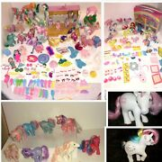 Huge Lot Of Vintage 1980s My Little Pony 56 Ponies G1 And Accessories