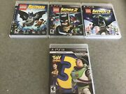 Ps3 Lot Of 4 Gamesdisney Pixar Toy Story 3.and Lego Batman 1 2 And 3