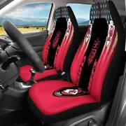 Us Kansas City Chiefs Car Seat Cover-set Of Two Universal Pickup Seat Protectors