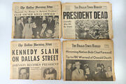 Best 4 Jfk John F. Kennedy And Oswald Assassination 1963 Dallas Texas Newspapers