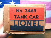 Vintage Lionel 2465 Sunoco Tank Car Rare And Super Unusual Box Packing Liner Piece